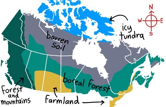 this simple graphic shows a lot cities grew in canada for a couple of reasons the same ones that prevailed in the us