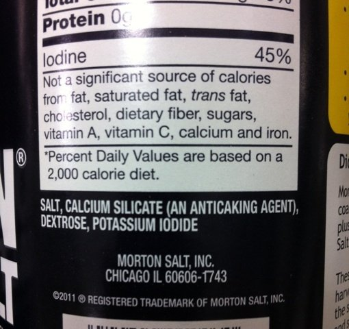 If Table Salt Is Sodium Chloride What Is Iodized Salt