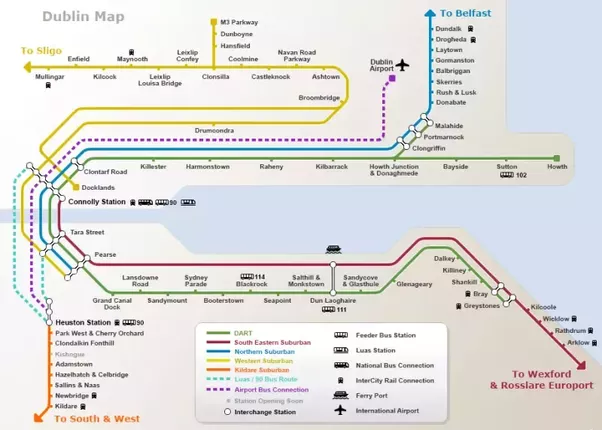 Moving to dublin as a us expat what neighborhood should i live in more schematic than geographic but itll give you an idea theres a travel card called a leap card that works on trains trams and buses so easy to hop publicscrutiny Choice Image