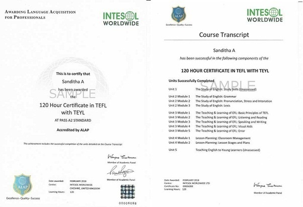 Which is better for getting a TEFL or a TESOL certificate in India ...