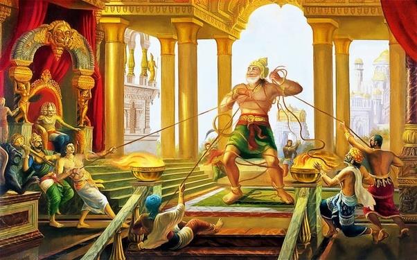 Image result for hanuman ravan goes to war