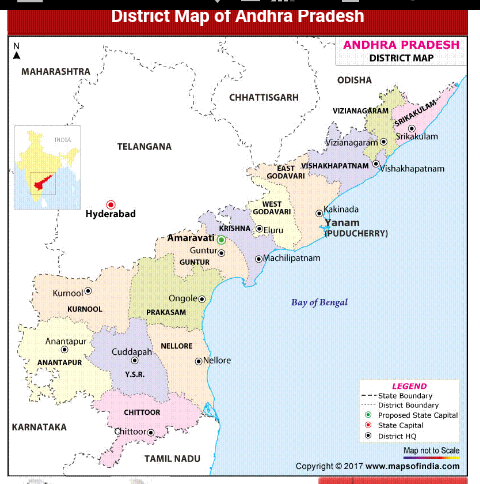 andhra map with districts How Many Districts Are In Andhra Pradesh Quora andhra map with districts