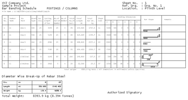 Can anyone tell me how steel quantity is calculated in the technically you have refer the shuttering detail for the length of the elements and the reinforcement drawing for the details of the bar the total length greentooth Images