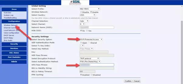 how to change my password on belkin modem