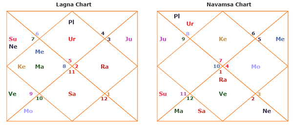 What is the difference between lagna chart and navamsa chart? - Quora
