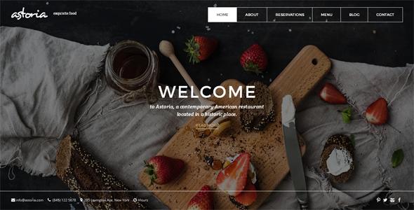Astoria Bootstrap HTML5 Restaurant Template - HTML5 Themes,Templates ...