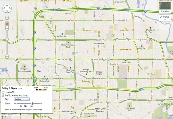 Can Google Maps or Waze show what the traffic will be like at a ...