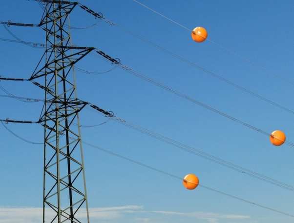 What are the red balls on power lines? - Quora