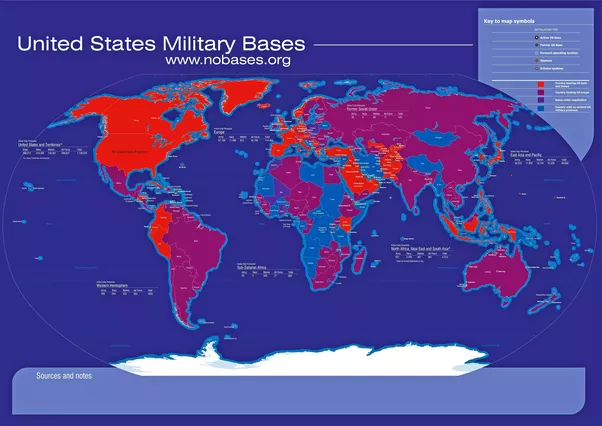 What is the number of US military bases around the world Quora