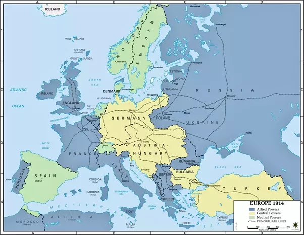 How did europe changed following world war 1 quora before the start of wwi europe was dominated by six major powers england france germany austria hungary russia and italy gumiabroncs Choice Image