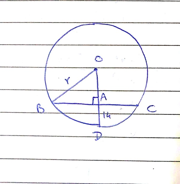 How To Calculate The Radius Of A Circle With The Length Of A Chord