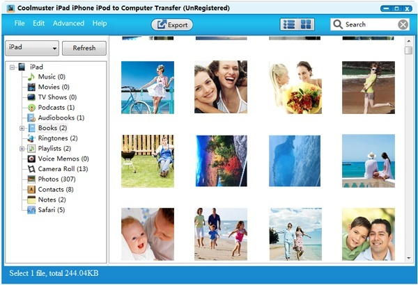 how to get pictures from iphone to mac