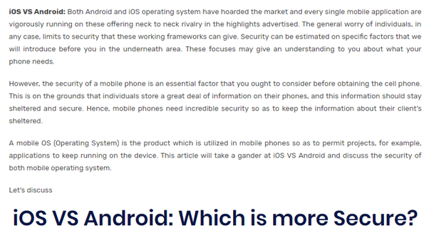 What OS is more secure, iOS or Android? - Quora