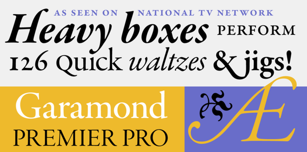 What typefaces are most similar to Garamond? - Quora