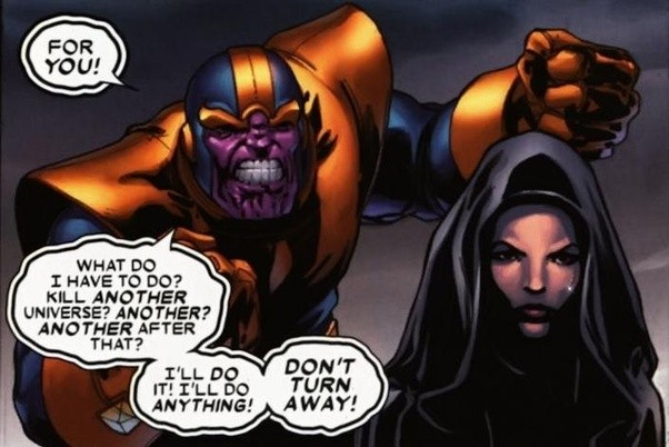 which character has a better background story and origin thanos or