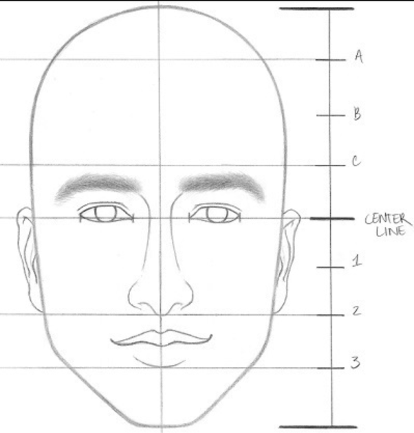 But always adapt these to the face shape of the person you want to draw for example in the above image theyve given the guy a round face shape already