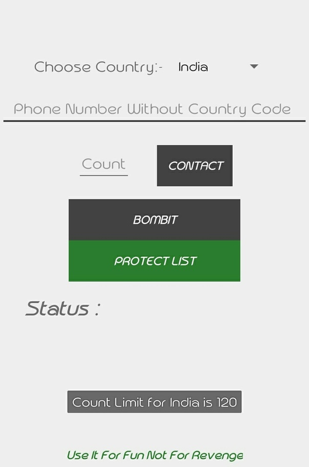text bomb from computer to cell phone