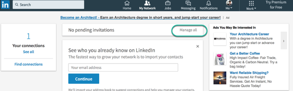 How to cancel send request on linkedin quora click the sent tab to view invitations that are still waiting for a response stopboris Choice Image