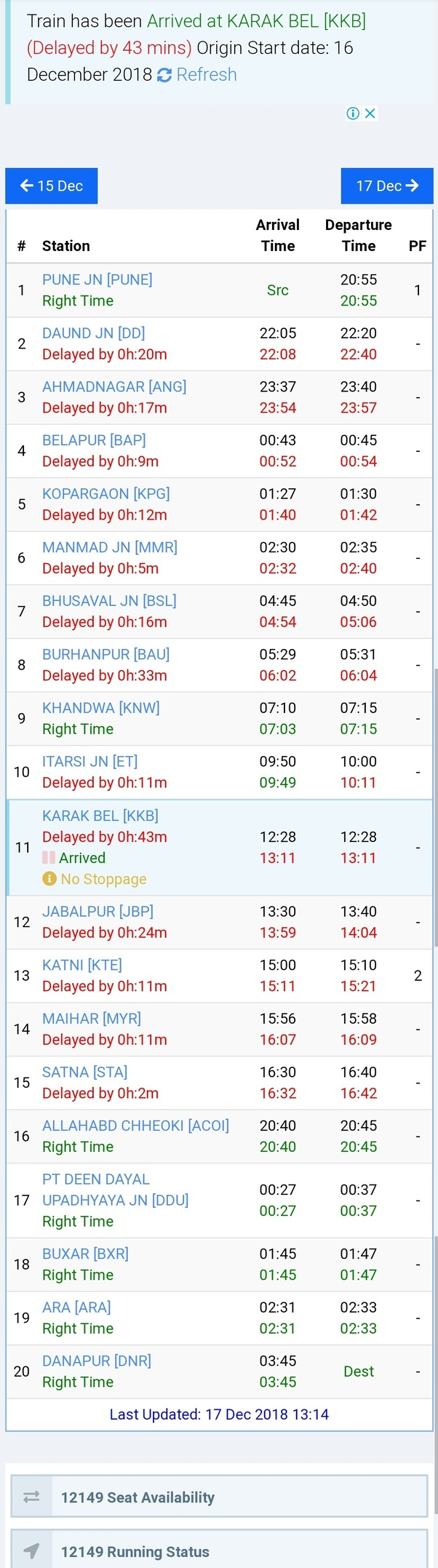 Which is the best app to know running status of a train? - Quora