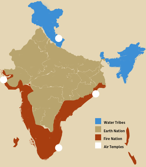 If india was to be divided into the four nations of the avatar use this map i made for reference long answer and explanation below publicscrutiny Image collections