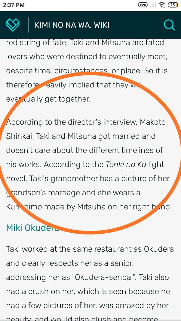 What Happens After Taki And Mitsuha Met When They Were Grown Ups In The Last Scene Of Movie Quora