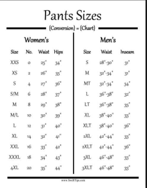 So Myself With A Moderate Men S Waist Of 35 Inches Would Be 4xl In Women Wow I Doubt That Have 44 Inch Hips Though