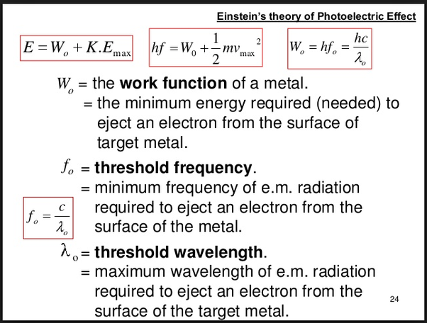 What Will Be The Threshold Wavelength For Potassium If Its Work