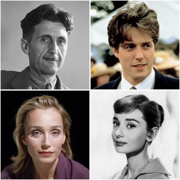 George Orwell Hugh Grant Kristin Scott Thomas Audrey Hepburn The French