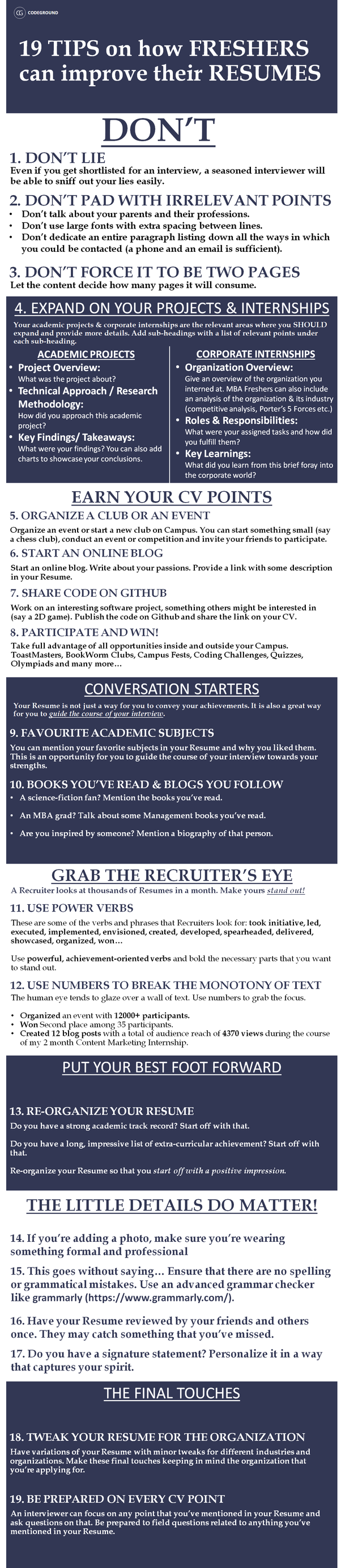 How To Make A Good Resume As A Fresher Quora