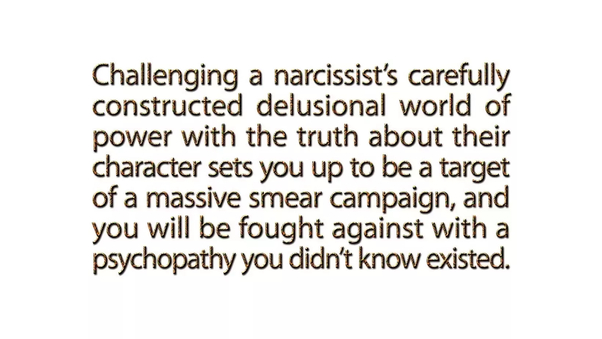 What happens when you expose a narcissist, who's also your