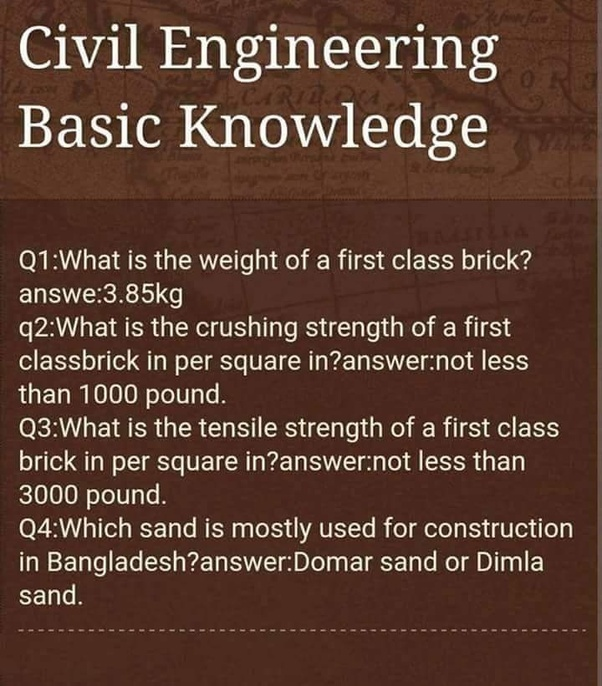 What is the basic knowledge of a civil engineer? - Quora