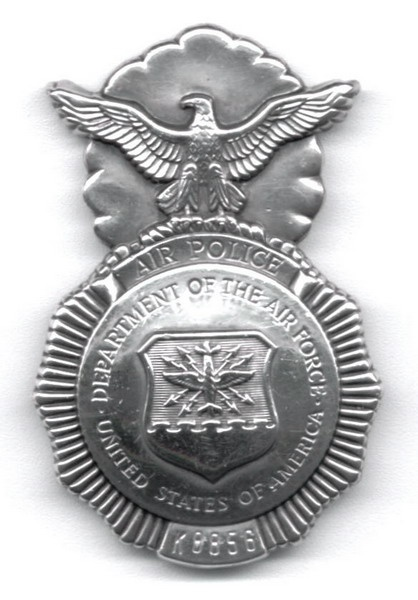 What is the meaning of the badge for US Air Force Security