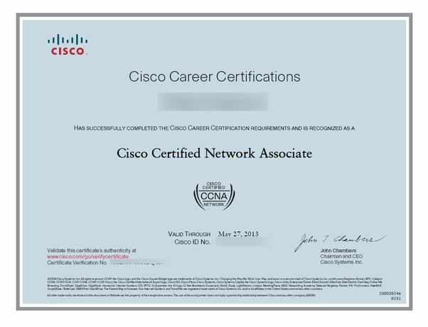 Image result for ccna certificate