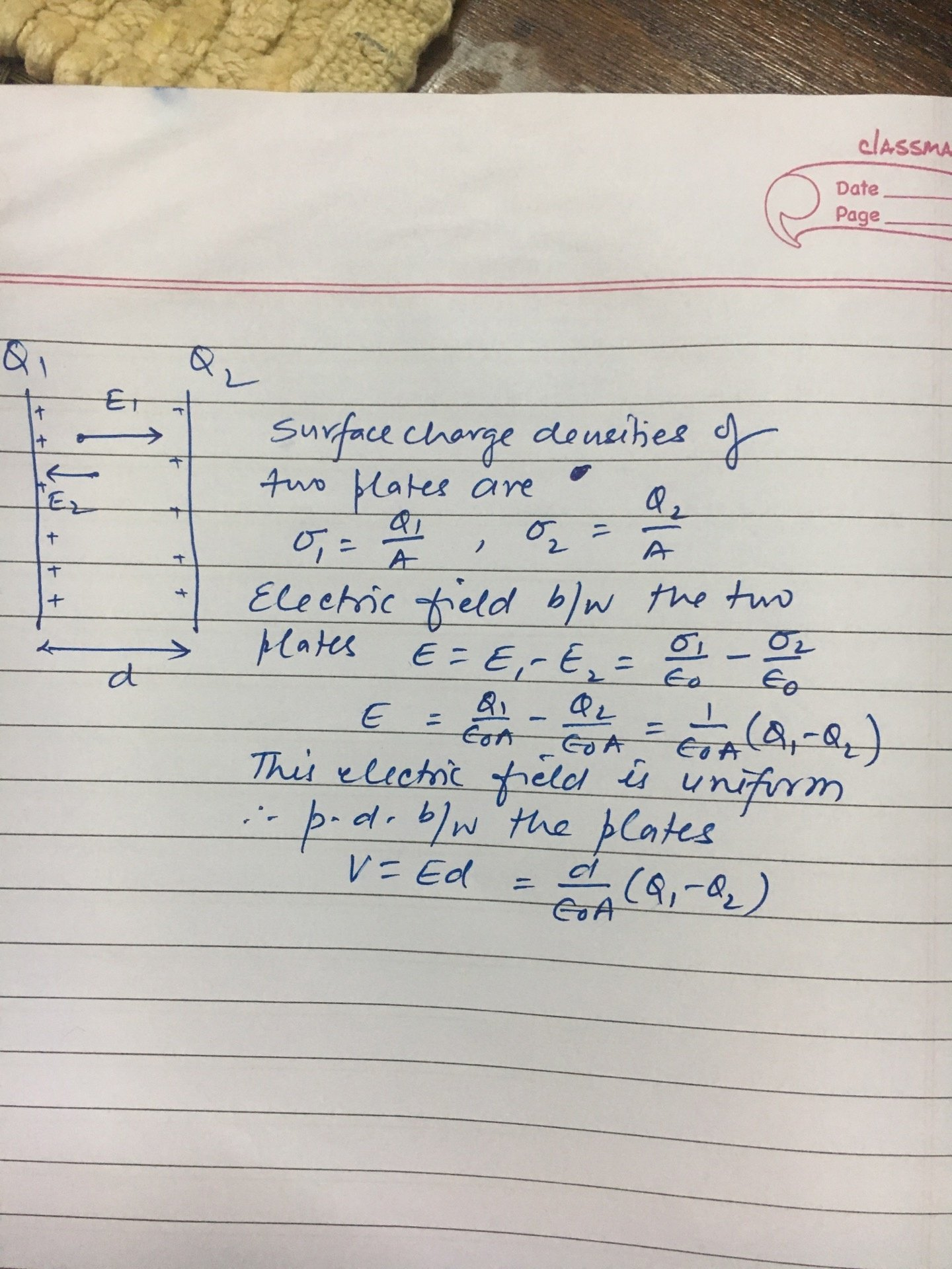 Two Identical Metal Plates Are Given Positive Charges Q1 And Q2 Wiring Capacitors In Parallel 16k Views View 5 Upvoters Answer Requested By Kashish Singh