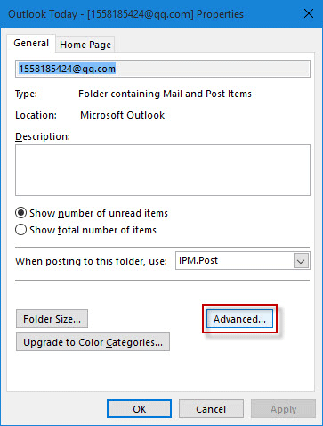 password outlook 2016 recovery
