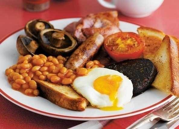 Up Such As Mushrooms Beans Sausages Hams Eggs Definitely Bread And Even Potatoes This Is What An English Breakfast Looks Like A Lot Of Food