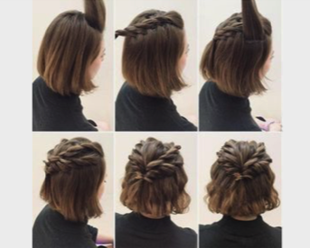 What are quick and easy hairstyles for short hair for school? - Quora