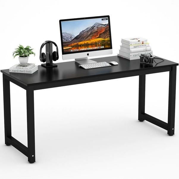 Modern Simple Tribesigns Desk Computer Table Office Desks With Metal Legs And Adjule Leg Pads Made The Keep Le Even On Uneven Floor