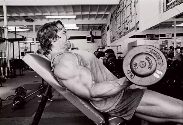 How much weight does arnold schwarzenegger barbell curl quora in his prime 19731975 he is usually seen curling 50 pound dumbbells as bodybuilders perform higher reps with smaller weights malvernweather Gallery