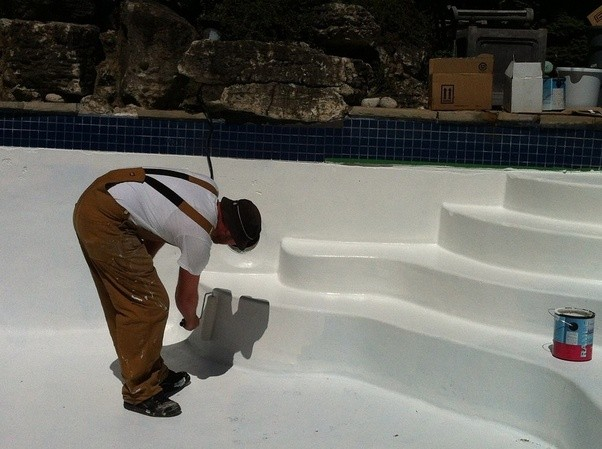 What is the best way to paint a swimming pool quora - Swimming pool paint for concrete pools ...