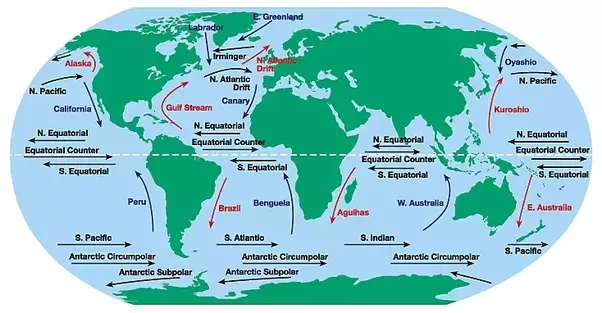 Why are most of the worlds deserts located on the western margins 1 its because of the ocean currents along those margins on the map above can you see how the warm currents are mostly on the east side of the continents gumiabroncs Image collections
