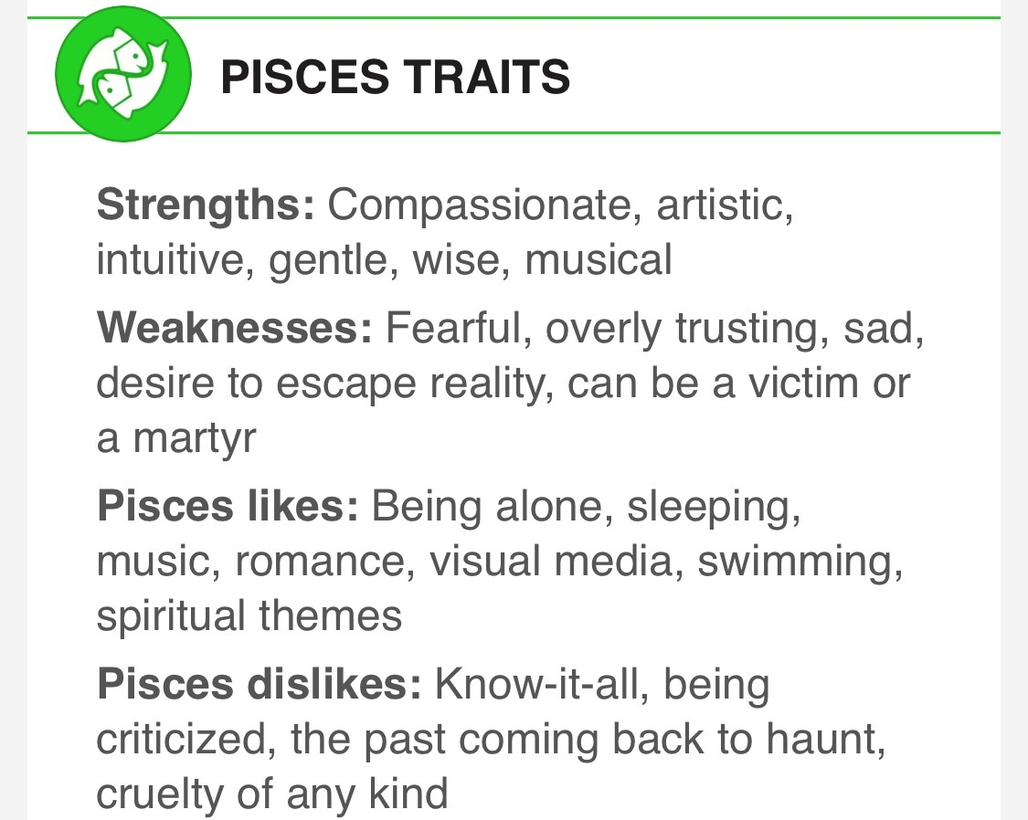 pisces strengths and weaknesses