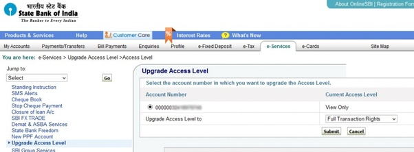 how to access my sbi account online