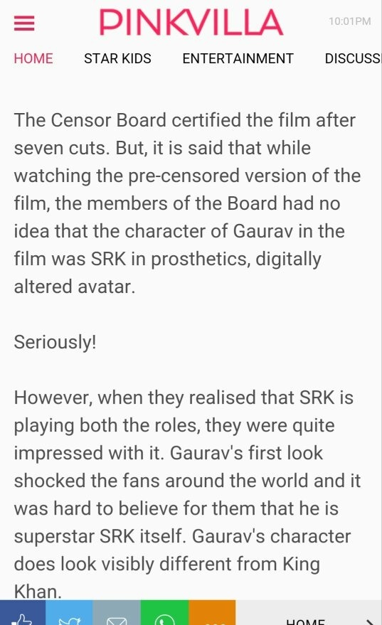 Did the censor board give a standing ovation to Fan