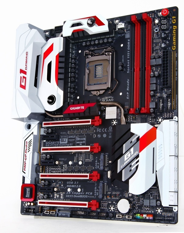 See Those Four Slots Running Horizontally The White And Red Are PCIe That Can Hold Graphics Cards From Looks Of It If You Look