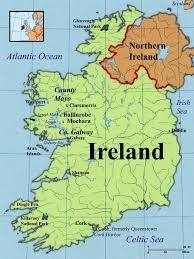 The Republic Of Ireland Is In Green.   It Is An Independent State With  Membership Of The EU. Northern Ireland Is In Orange.   It Is Part Of The  UK, ...