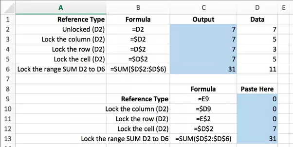 how to carry a formula down in excel