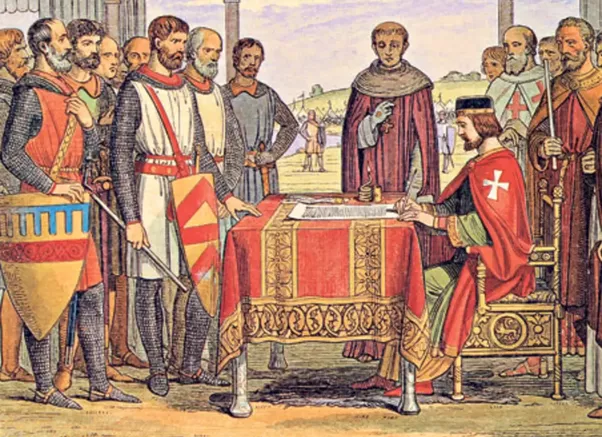 barons magna carta and king john Henry ii, one of the most influential's of england's government created and improved the judicial system as the laws of the land needed applied his government.