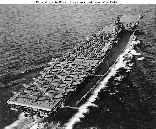 how many aircraft carriers did the usa build during world