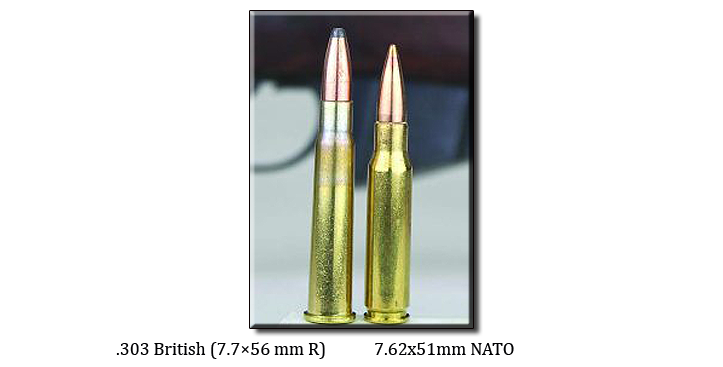 Which has more felt recoil, 7 62x51 (NATO) or  303 British